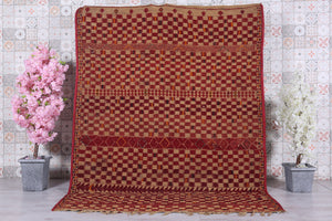 Vintage Hassira Mat (6.4 ft x 8.4 ft)