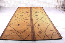 "Large Tuareg Mat 7'7"" x 14'5"" Natural Reed and leather"