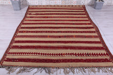 Customized Boho Hassira Moroccan Rug (6.1ft x 8.9ft)