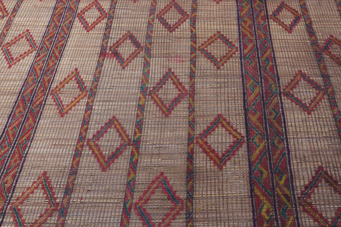 Antique Old Mat from Tuareg tribe 7.6ft x 13.2ft
