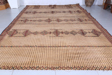 Vintage Rug Old Reed Mat (6.3ft x 8.9ft)