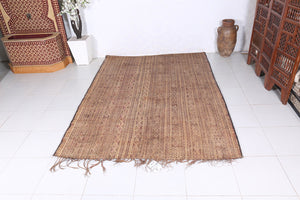Vintage Rug Moroccan Reed Mat (6.2ft x 8.7ft)