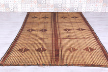 Straw leather Wool Hassira Rug