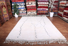 Wool Moroccan area rug, Custom berber carpet