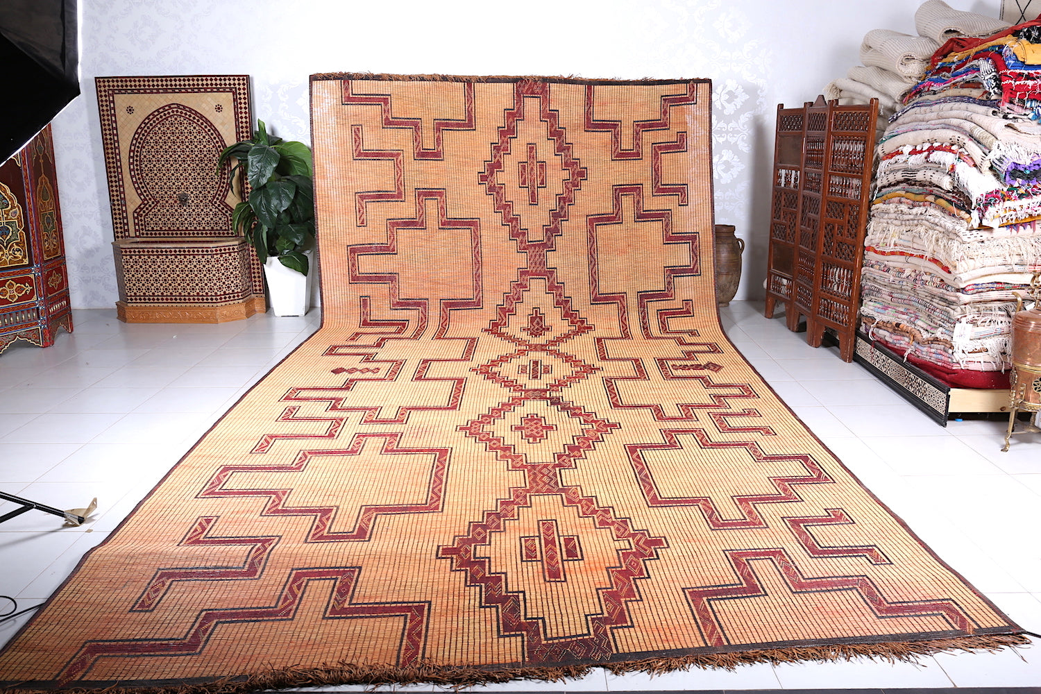Unique & Antique Classic Nomad Tuareg Mat (99.4ft x 18.8ft)