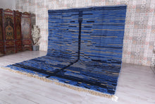 Custom Moroccan rug blue, Woven berber carpet