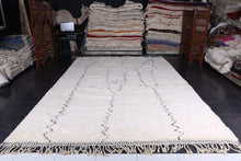 Custom moroccan beni ourain carpet, Wool area rug