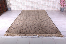 Custom Gray wool berber rug