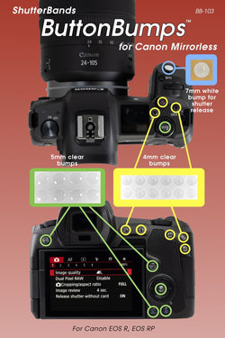 ShutterBands ButtonBumps for Canon Mirrorless (BB-103)