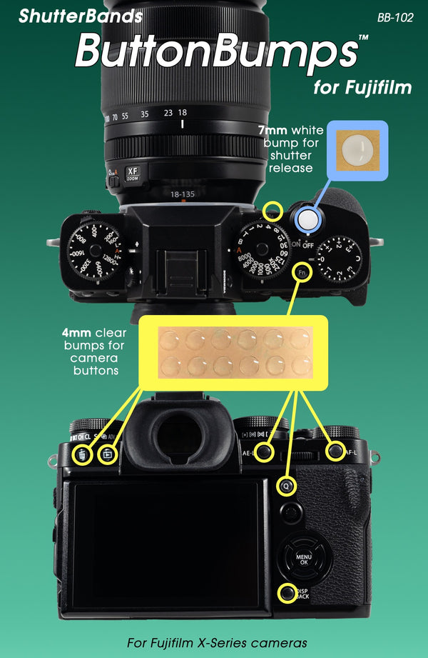 ShutterBands ButtonBumps for Fujifilm X-Series (BB-102)
