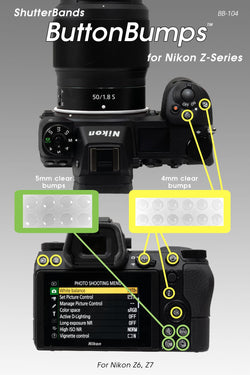 ShutterBands ButtonBumps for Nikon Mirrorless (BB-104)