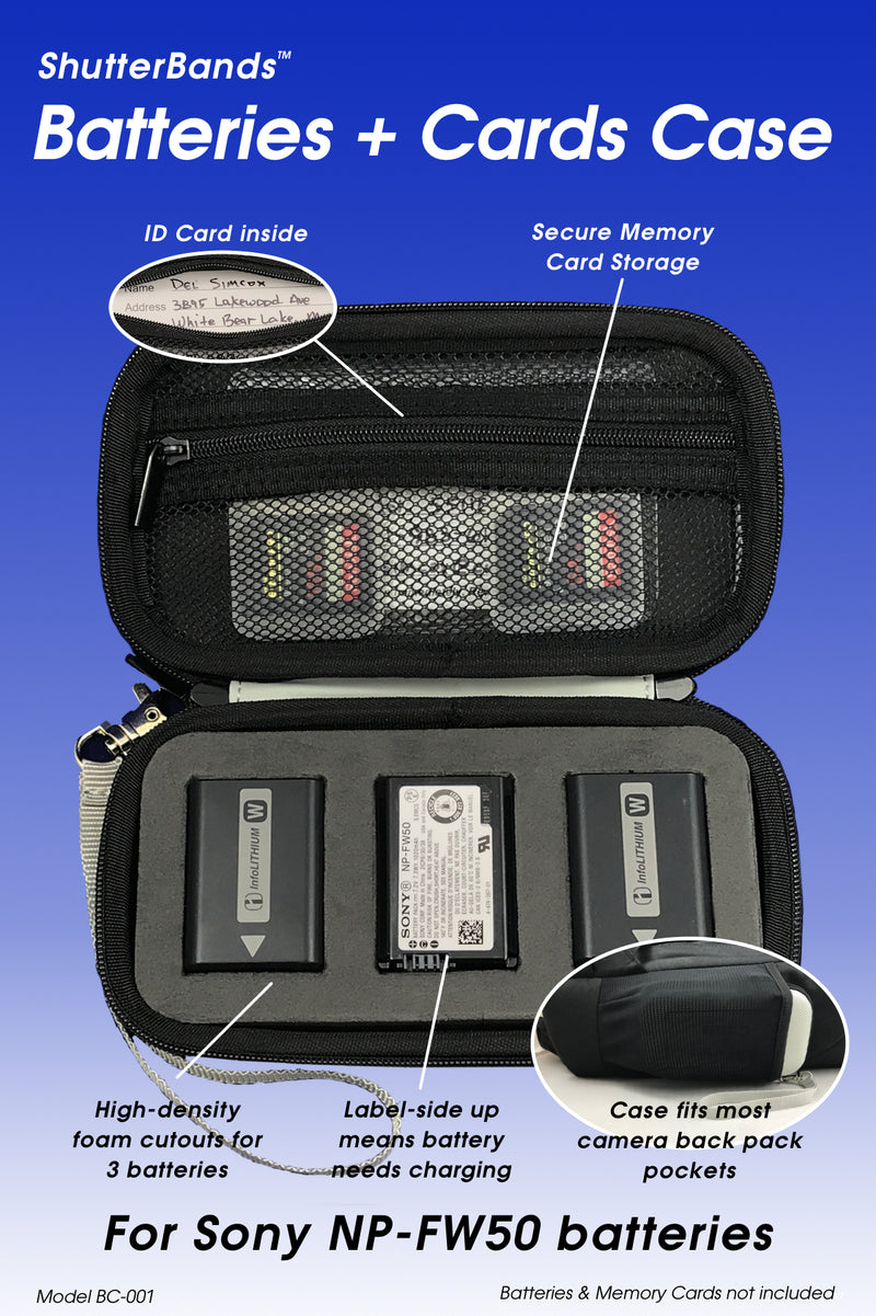 Clearance - Batteries + Cards Case for Sony NP-FW50