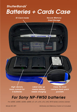 Batteries + Cards Case for Sony NP-FW50 (BC-001)