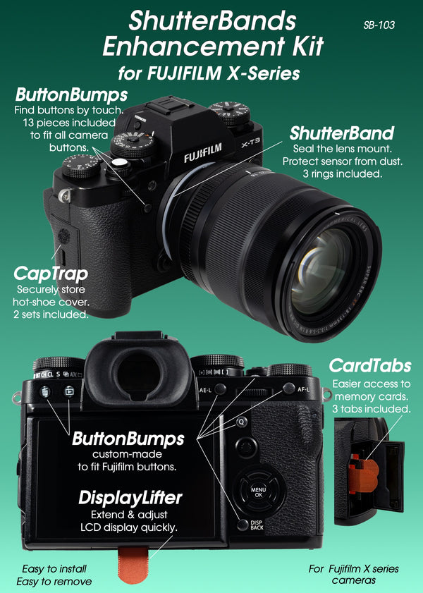 ShutterBands Enhancement Kit for Fujifilm X-Series (SB-103)
