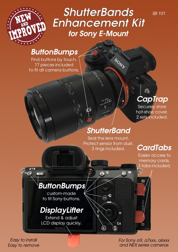 New and Improved ShutterBands Enhancement Kit for Sony E-Mount  (SB-101)