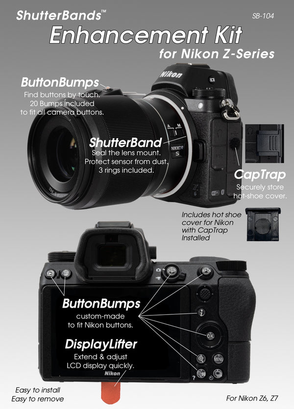 Sony RX100 Series, HX99, HX95, HX80 ShutterBands Enhancement Kit for Sony Compact Cameras