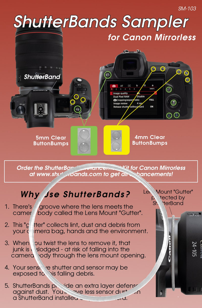 ShutterBands Sampler for Canon Mirrorless