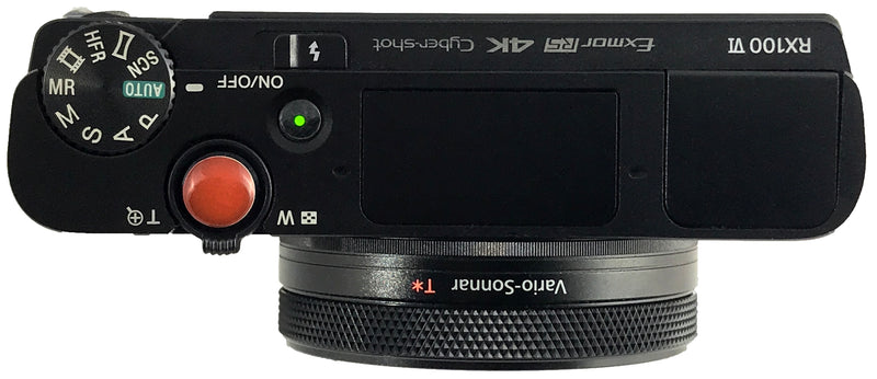 Sony RX100vi with ShutterBands Enhancements - top view