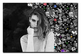 Have your photo instead!  Yet another unique piece of flowery gray abstract portrait mix between grey shade of flowers and sort of dark clouds background. Girls in particular find it so desirable and beautiful hanging on the wall.  It comes on canvas, framed or rolled.