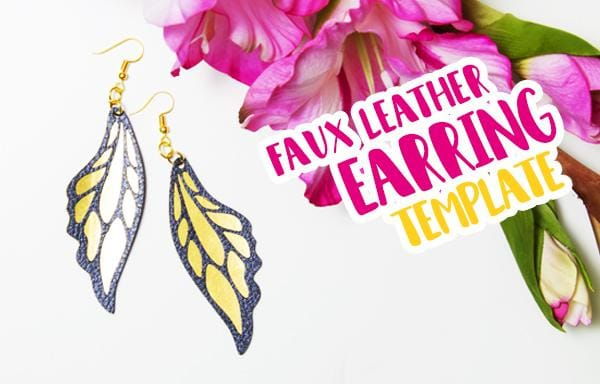 Butterfly inspired Earring Template