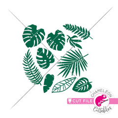 16 Tropical Graphics svg png dxf eps jpeg SVG DXF PNG Cutting File