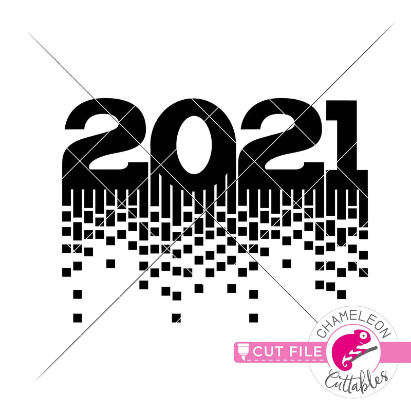 2021 New Year sparkle New Year's Eve svg png dxf eps jpeg SVG DXF PNG Cutting File