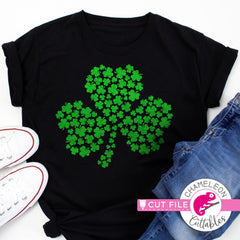 3 leaf clover St. Patricks Day svg png dxf eps jpeg SVG DXF PNG Cutting File