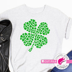 4 leaf clover St. Patricks Day svg png dxf eps jpeg SVG DXF PNG Cutting File