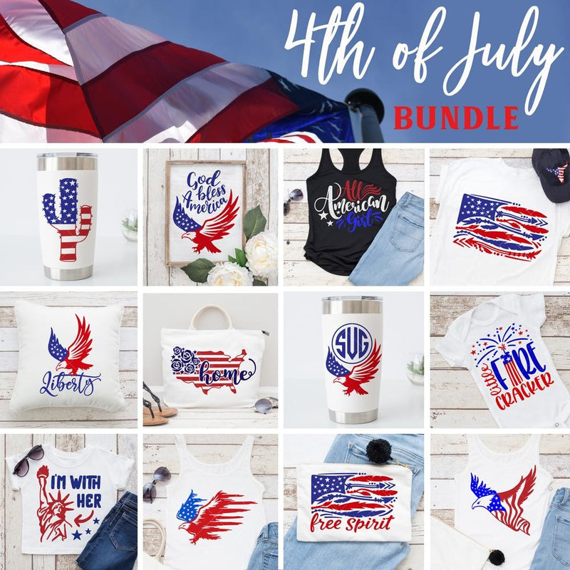 4th of July Bundle SVG DXF PNG Cutting File