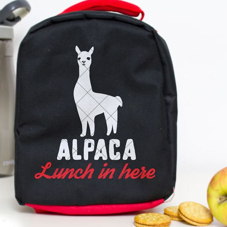 Alpaca Lunch in here svg png dxf eps SVG DXF PNG Cutting File