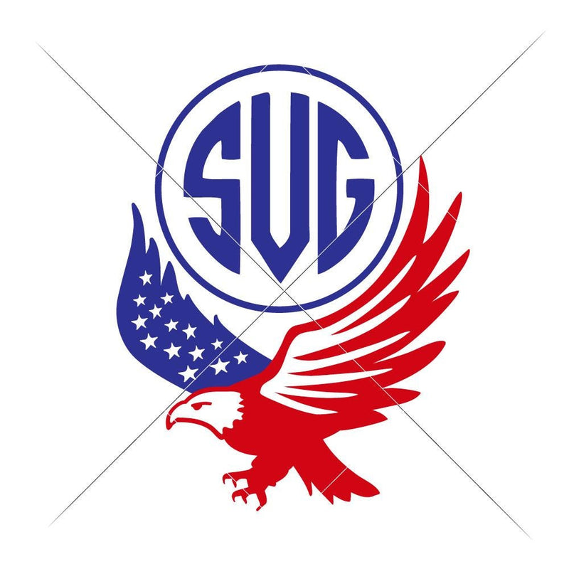 American Eagle Monogram Frame Svg Png Dxf Eps Svg Dxf Png Cutting File