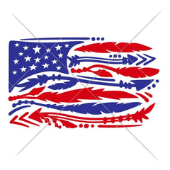 American Flag With Arrows And Feathers Svg Png Dxf Eps Svg Dxf Png Cutting File