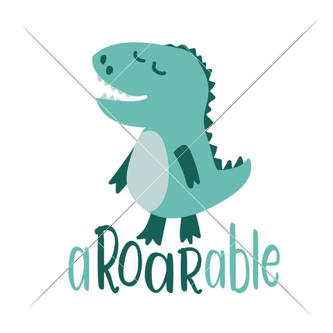 aROARable Dinosaur for Baby Boy Toddler svg png dxf eps