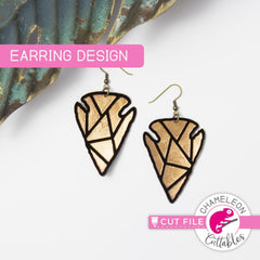 Arrowhead Earring Template svg png dxf eps SVG DXF PNG Cutting File