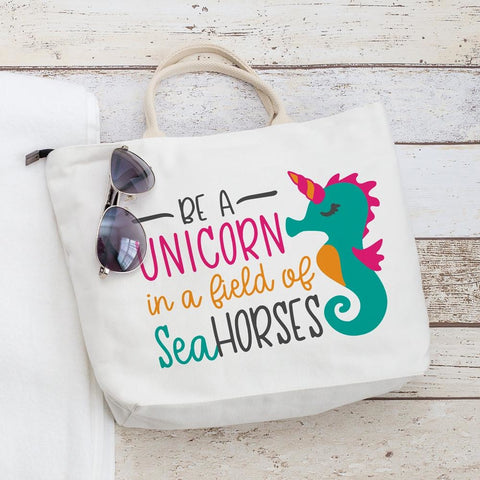 Be a Unicorn in a Field of Seahorses svg png dxf eps
