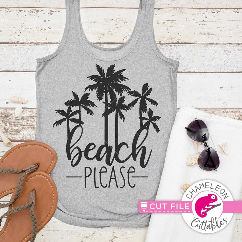 Beach Please svg png dxf eps SVG DXF PNG Cutting File