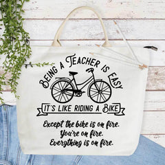 Being A Teacher Is Easy Its Like Riding A Bike Svg Png Dxf Eps Svg Dxf Png Cutting File