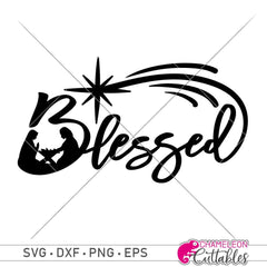 Blessed With Nativity Scene Svg Png Dxf Eps Svg Dxf Png Cutting File