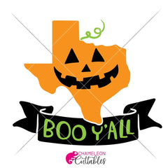 Boo Yall Texas Halloween Pumpkin Svg Png Dxf Eps Svg Dxf Png Cutting File