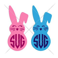 Bunnies For Monogram Svg Png Dxf Eps Svg Dxf Png Cutting File