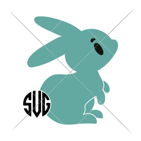 Bunny Boy with Monogram Tail svg png dxf eps