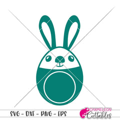 Bunny Egg Monogram Frame Svg Png Dxf Eps Svg Dxf Png Cutting File