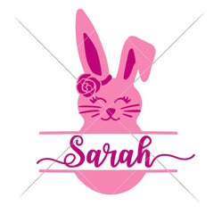 Bunny Girl Split Design Svg Png Dxf Eps Svg Dxf Png Cutting File