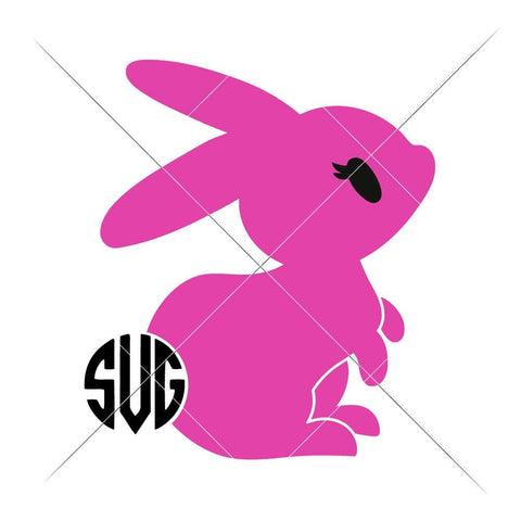 Bunny Girl with Monogram Tail svg png dxf eps