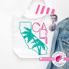 Cali California palm trees svg png dxf eps SVG DXF PNG Cutting File