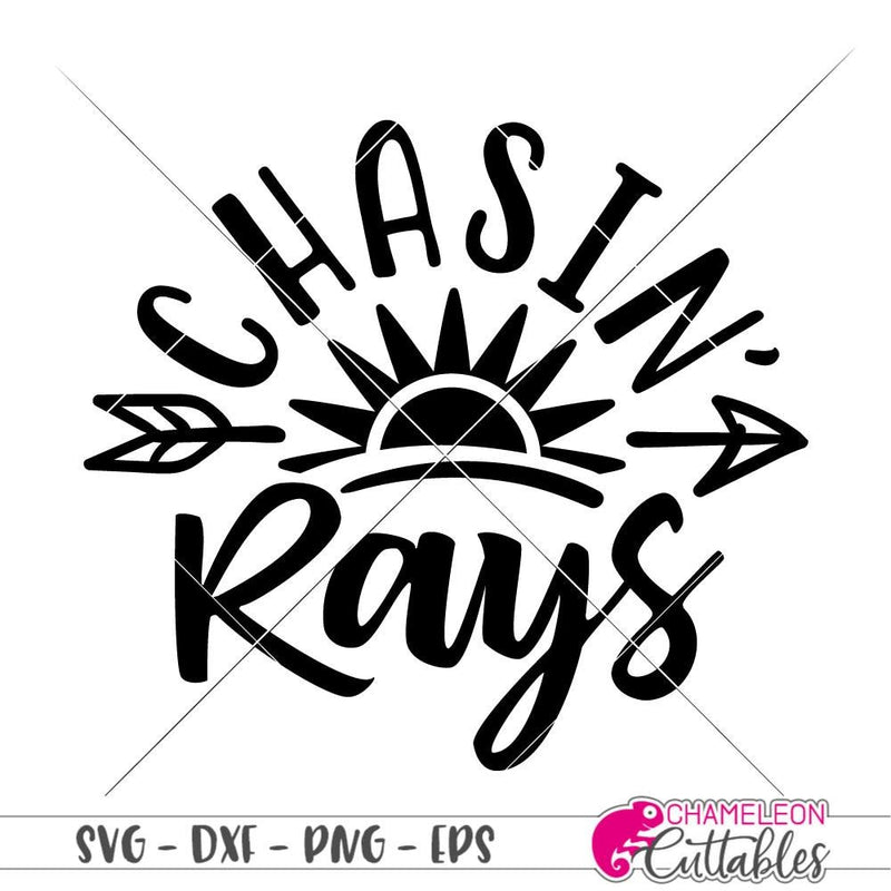 Chasin Rays Svg Png Dxf Eps Svg Dxf Png Cutting File
