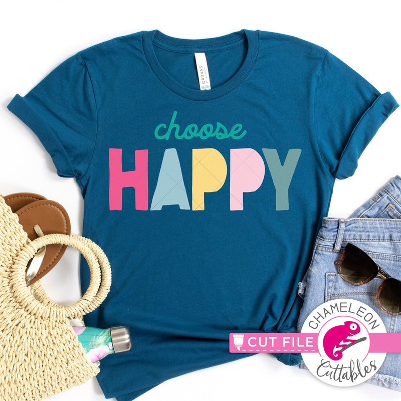 Choose Happy svg png dxf eps jpeg SVG DXF PNG Cutting File