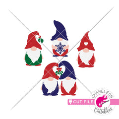 Christmas gnomes layred svg png dxf eps jpeg SVG DXF PNG Cutting File