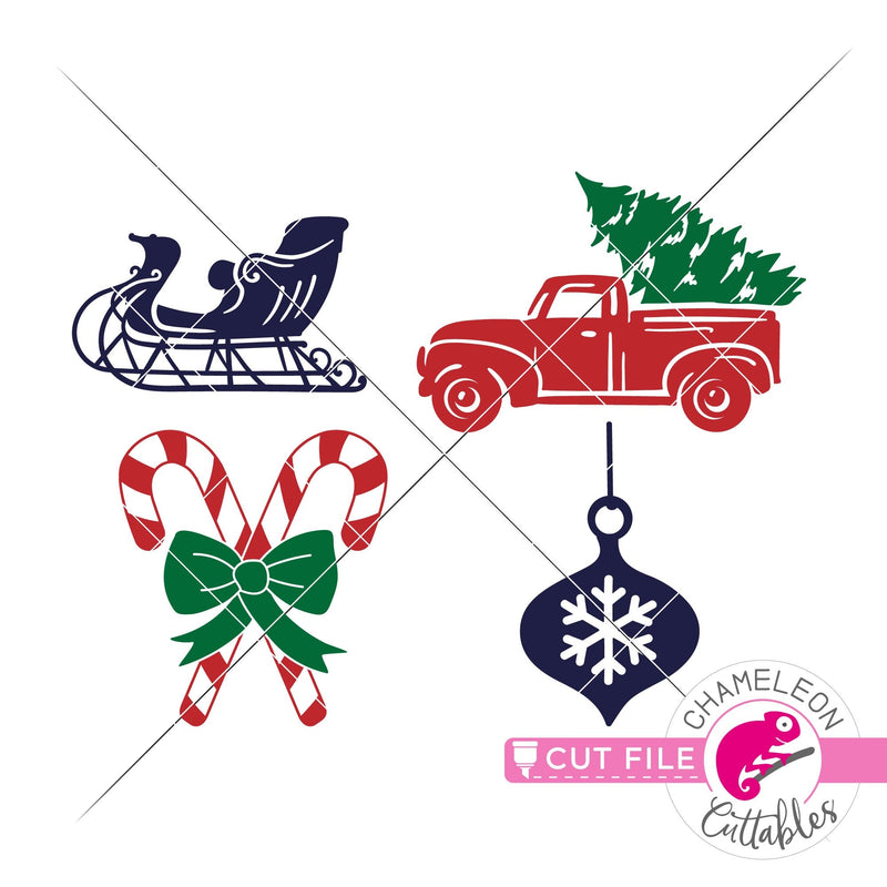 Christmas items bundle svg png dxf eps jpeg SVG DXF PNG Cutting File