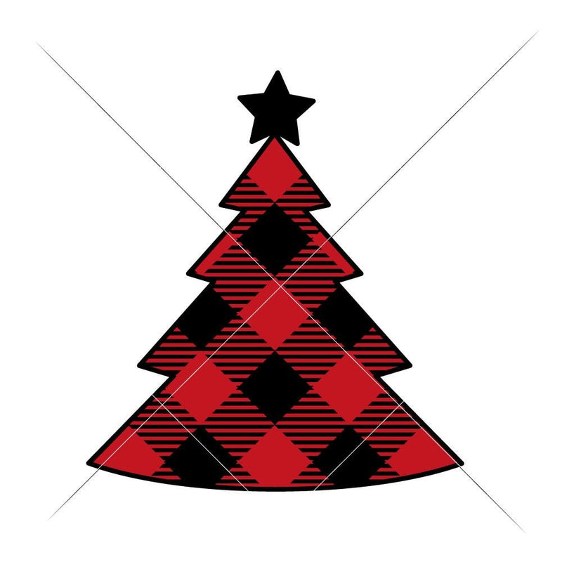 Christmas Tree Plaid Svg Png Dxf Eps Svg Dxf Png Cutting File
